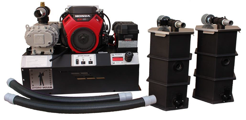 RGV40H12 Hydro Tek HOT-2-GO Gas Vacuum Water Recovery Capture Transfer System 25 GPM Honda GX630