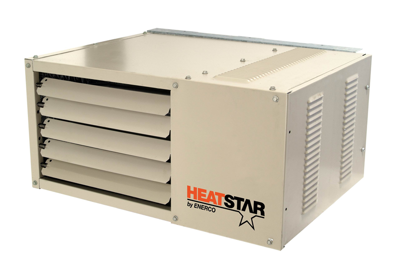 Overhead Forced Air Garage Shop Heater Enerco HS U 50 NG LP F160550