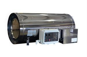 F130115 HS408AF Enerco 400,000 BTU 208-230v Stainless Steel Direct Fired Forced Air Industrial Greenhouse Heater