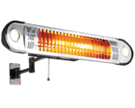SSR-820G-IHR Master Sunstream Wall-Mounted Infrared Radiant with Golden Bulb 5,100 BTU Space Heater