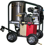 SK30005VH Power washer shown with optional wheel ki