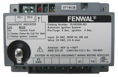 50139a frost fighter fenwal gas primary gas control auto ignition system  module 35-605500-001 replaces 50139  smoky mountain emporium, inc.