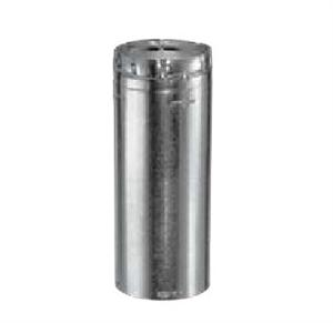 6GV36 Round Gas Vent Collection Aluminum 36 Inch Length Round Rigid Pipe with 6 Inch Inner Diameter