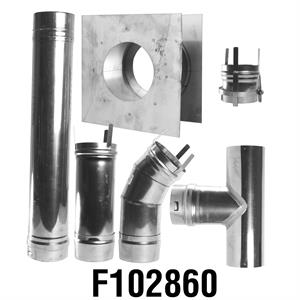 F102860 Enerco Stainless Steel Horizontal Vent Kit
